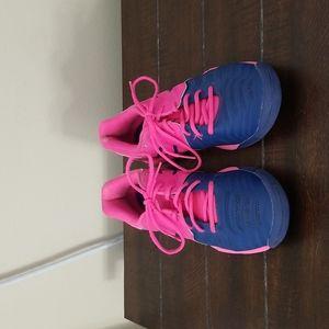Asics Pink/Blue Gel Resolution 7 Tennis Shoes Size 7